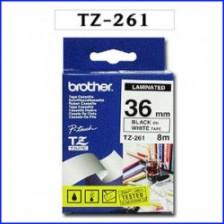 [TZ-261(36mm)]흰색바탕/검은글씨